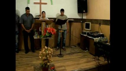 молитвено на църква емануил гр.сливен с пастор христо=калаи