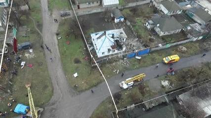 Ukraine: Drone footage captures Makeevka shelling damage