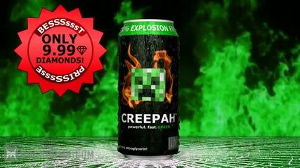 Creeper Energy Drink (minecraft Machinima)