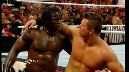 John Cena And Cm Punk vs The Miz And R-truth - Miz And Truth Fired