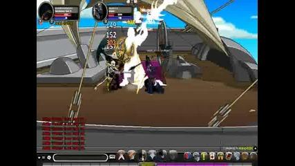 Aqw:dobromir2001 and harrypotter1337 battle Gladius