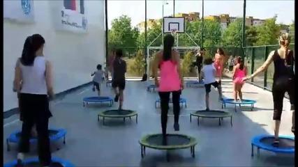 Декатлон Пловдив и Студио Камато | Пловдив | тренировка по Fit Jumping (батути)