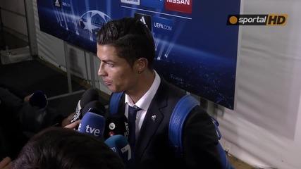 Кристиано Роналдо Коментира мача с Лудогорец