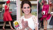 Дребен моден трик, с който Кейт си спестява неудобни моменти, когато носи рокли