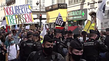 France: Anti-COVID pass protesters hit Paris for 10th weekend running