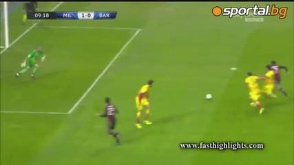 Милан и Барса поделиха точка в интересн мач