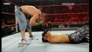 Raw 06/29/09 John Cena vs The Miz [ Night of Champions Tournament semi - finals]*втора част*