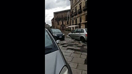 Italy: Palermo streets flooded after unusual heavy rain in summer