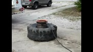 Как да се напомпва гумата за една секунда ?