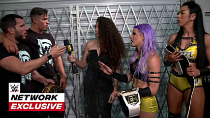 Johnny Gargano and Austin Theory return to celebrate with Candice LeRae and Indi Hartwell: WWE Network Exclusive, May 4, 2021