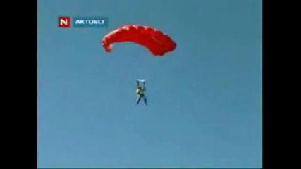 Неуспешен скок с парашут от висока сграда