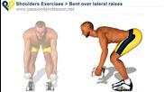 Упражнение за рамо (вдигане на дъмбели с изправени ръце)