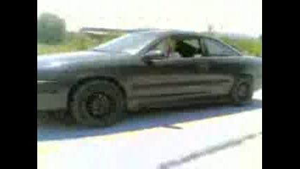 Opel Calibra Burnout