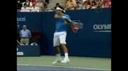 Roger Federer - Running Forehand Winner