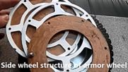 let overcome well known weakness of all whelled armored vehicles - to upgrade non protected wheels