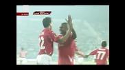 Фантастичен гол на Мишел Платини за Цска пред 35 000 фена на червените