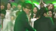 Intro - Suju , F(x) , Infinite etc. @ Music Bank (23.12.2011)