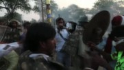 India: People launch burning Hingots in traditional Diwali ritual