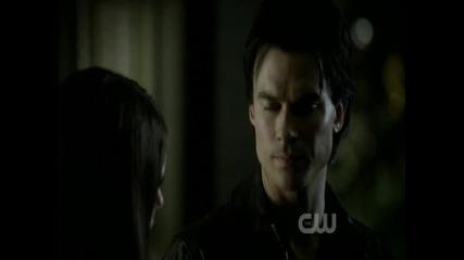 Страхотноо! Деймън и Елена се целунаха истински! The Vampire Diaries