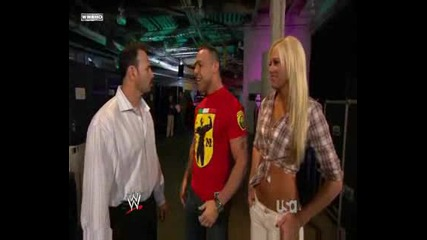 Kelly,  Santino and Chavo Backstage