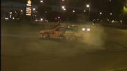 Bmw e30 Adulthood crazy night burnout in Riga
