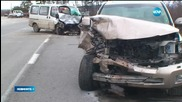 13 души пострадаха при тежка катастрофа