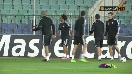 Роналдо и Касияс показват завидни умения преди мача с Лудогорец
