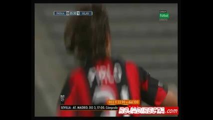 Гол от над 35 метра на Андреа Пирло 02.10 Парма - Милан 0:1