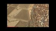 Заснето видео над Япония с цунами след земетресение