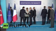 Turkey: European G20 leaders hold minute of silence to honour Paris victims