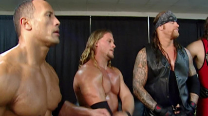 Mr. McMahon gives a pep talk to Team WWE: Survivor Series 2001