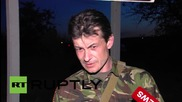 Ukraine: Investigators arrive at scene of 'Phantom Brigade' commander's killing *GRAPHIC*