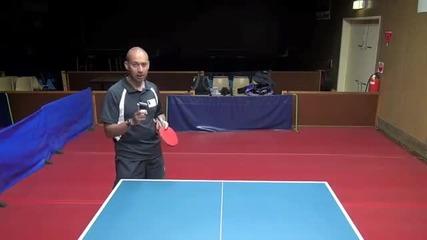 Уроци по тенис на маса - Криене на сервиза