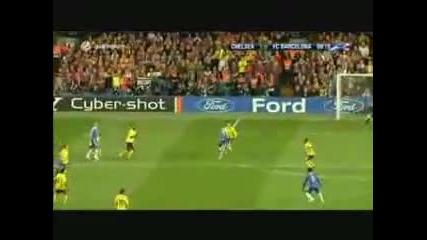 гол на Essien срещу барса (high quality)