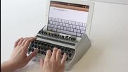 Пишеща машина за ipad itypewriter landscape