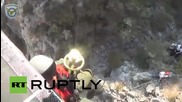 Greece: Air force rescues Syrian migrant trapped on rocks