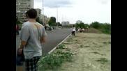 Мотосбирката в Стара Загора (втори ден) Атрактивно каране 2009