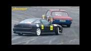 Volga V8 300hp vs Nissan 180sx