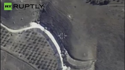 Russian Airstrikes in Syria - Footage from the Jet Fighters