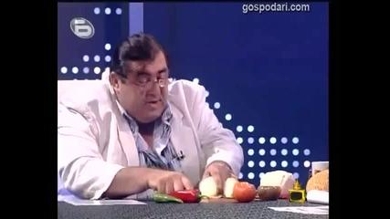 Митьо Пищова яде в ефир..