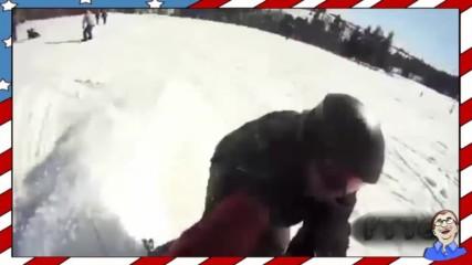 Ски и сноуборд провали - Компилация