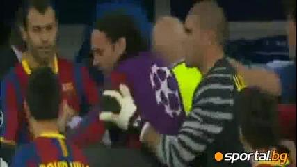 Бой между Реал и Барса на Полувремето 27.04.2011