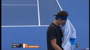 Tomic vs Benneteau - What a Shot From Tomic!