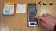 Малка джобна електронна везна до 100гр 0.01 за злато, бижута, дигитален кантар, риболов, багаж