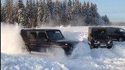 Mercedes G500 при - 30 градуса температура и около 50 см сняг!