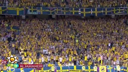 Ибрахимович с гол.швеция - Франция (2:0)