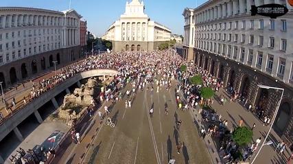 Протест от въздуха София ден 5-ти