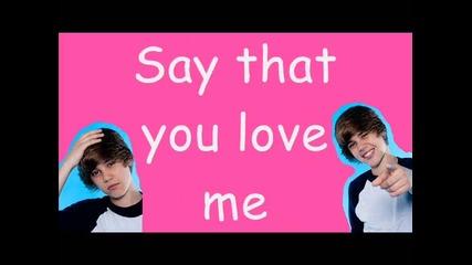 Бг Превод и Lyrics! Изкъртващ на Justin Bieber - Love me