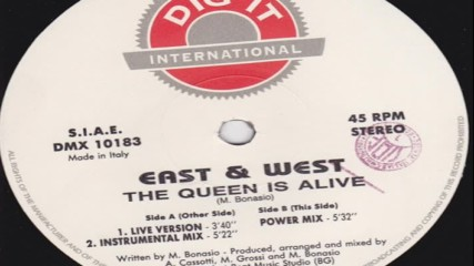 East West - The Queen Is Alive ( Power Mix ) ( Italodance 1994 )