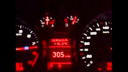 308 км ч на магистрала Тракия с Audi R8